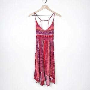 Hollister Strappy A-line Handkerchief Hem Dress